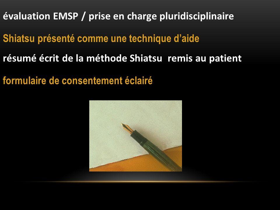 évaluation EMSP / prise en charge pluridisciplinaire