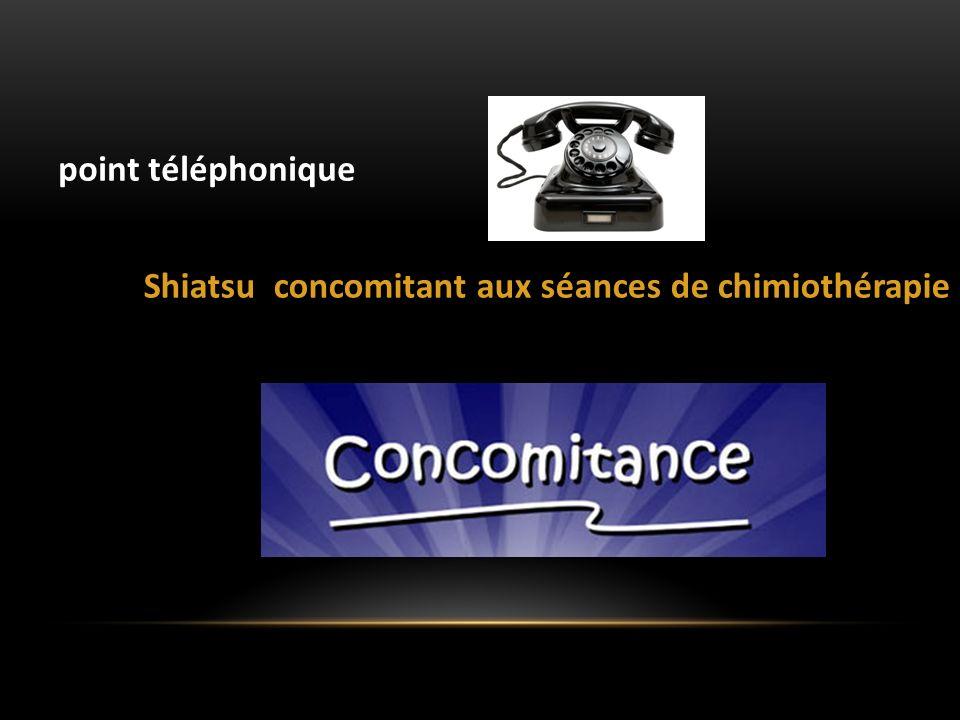 point téléphonique Shiatsu concomitant aux séances de chimiothérapie
