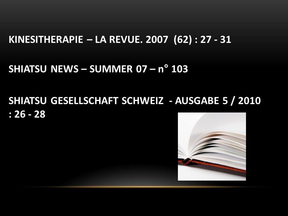 KINESITHERAPIE – LA REVUE. 2007 (62) : 27 - 31