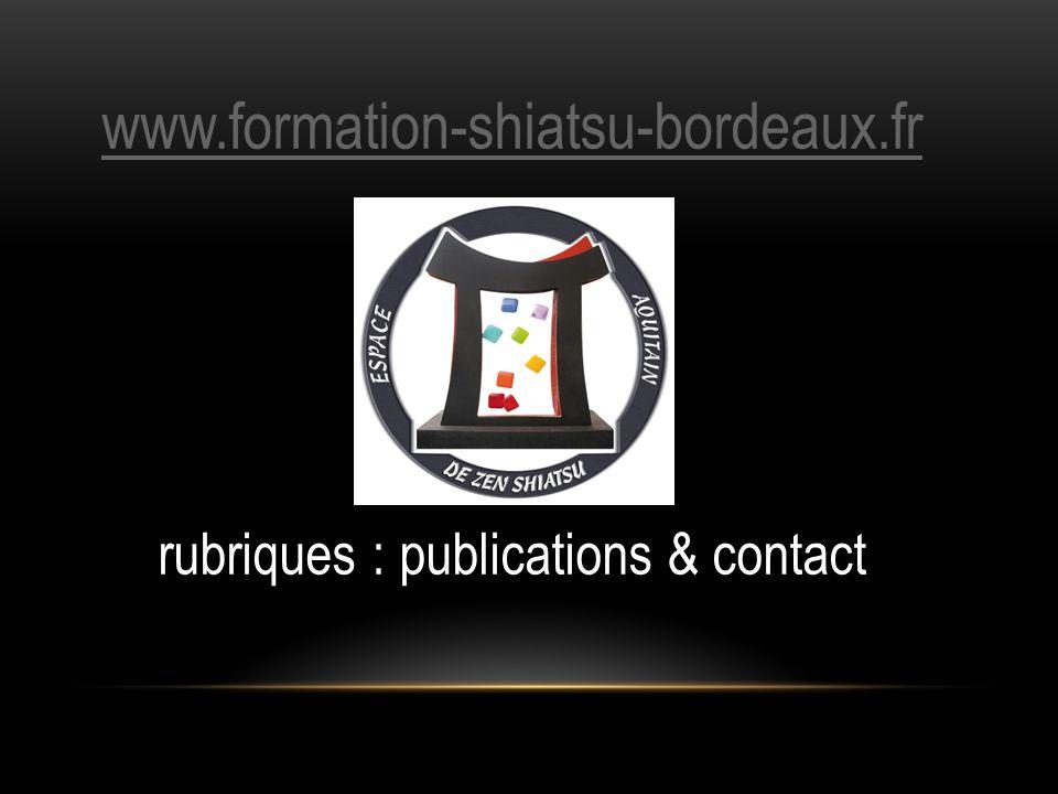 rubriques : publications & contact