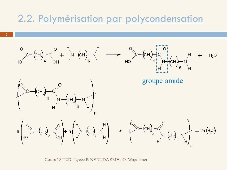 2.2. Polymérisation par polycondensation