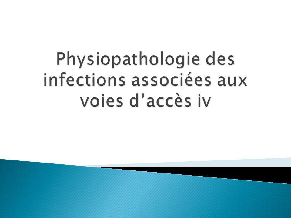 Physiopathologie des infections associées aux voies d'accès iv