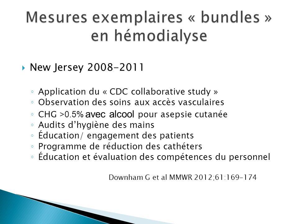 Mesures exemplaires « bundles » en hémodialyse