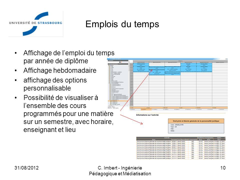 C. Imbert - Ingénierie Pédagogique et Médiatisation
