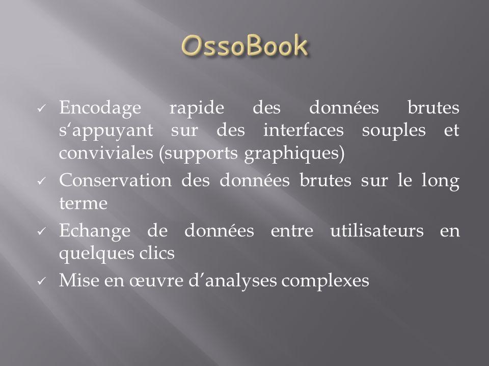 OssoBook Encodage rapide des données brutes s'appuyant sur des interfaces souples et conviviales (supports graphiques)