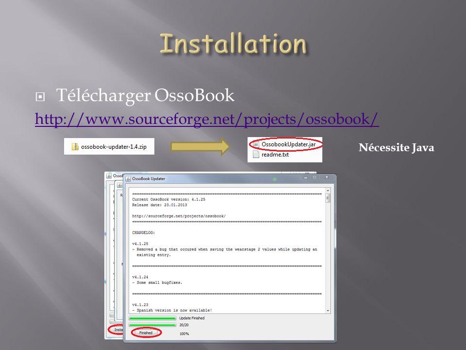 Installation Télécharger OssoBook