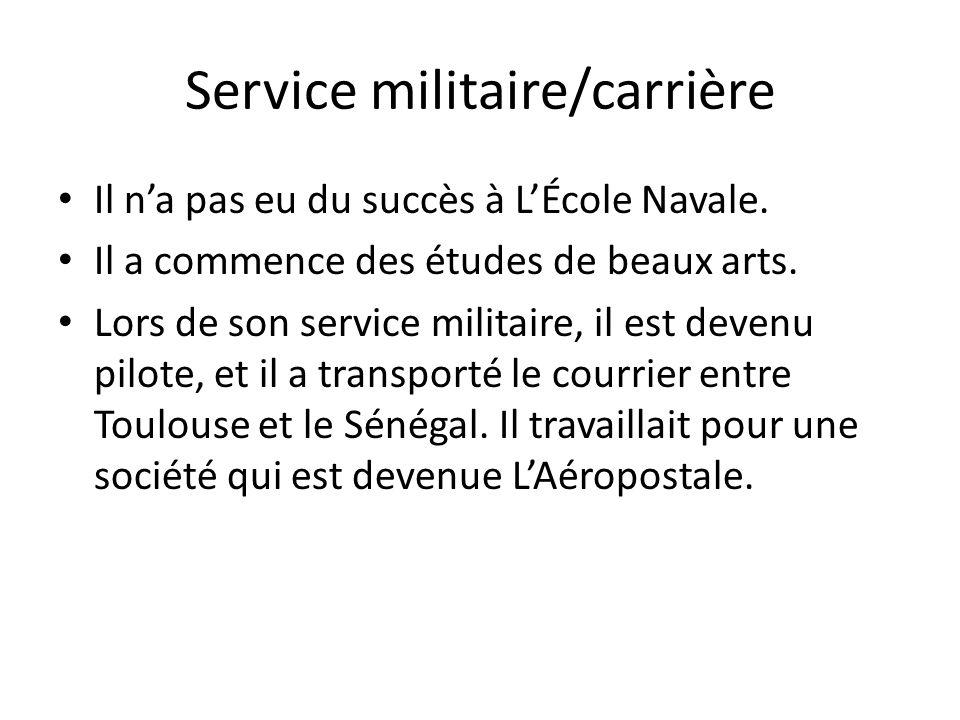 Service militaire/carrière
