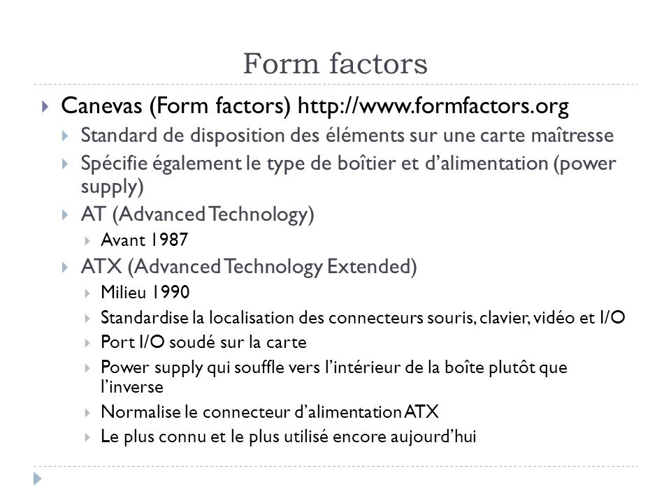 Form factors Canevas (Form factors)