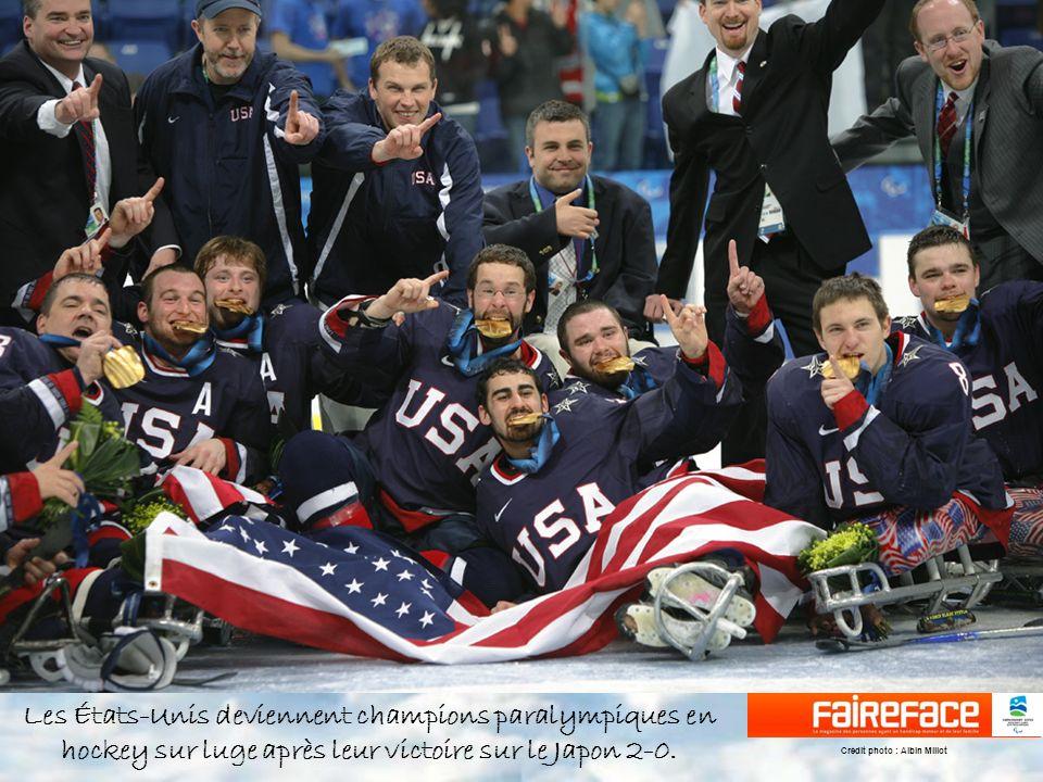 Les États-Unis deviennent champions paralympiques en hockey sur luge après leur victoire sur le Japon 2-0.