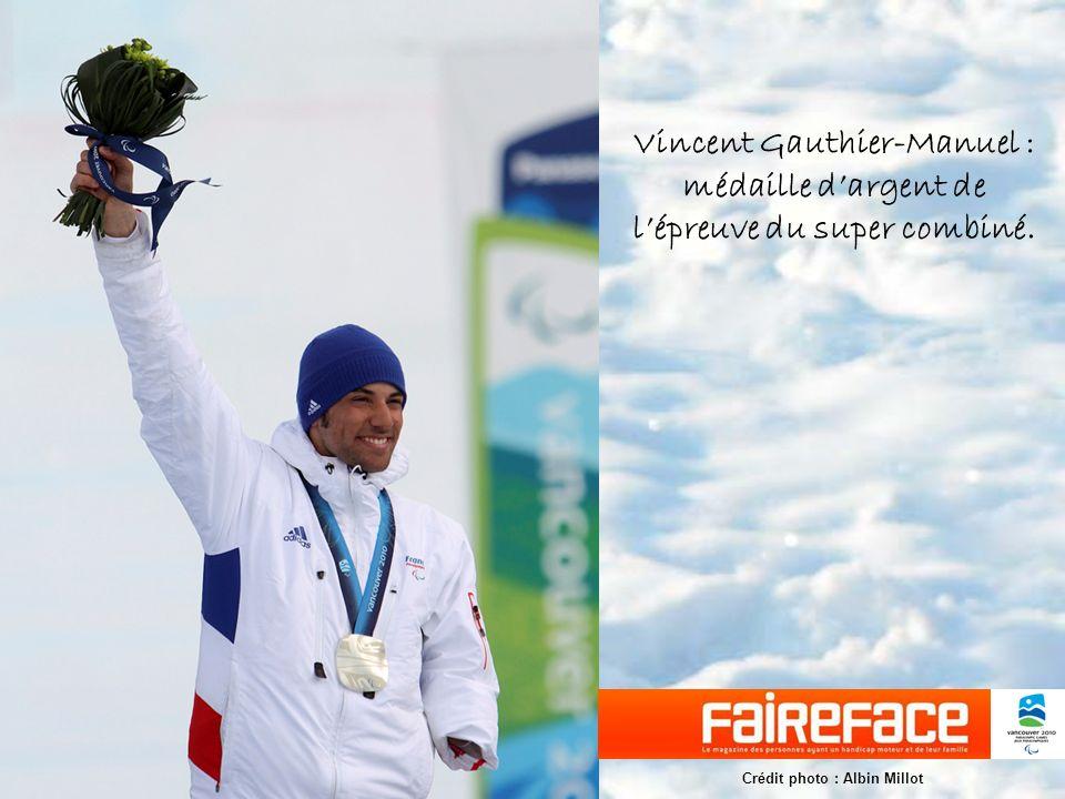 Vincent Gauthier-Manuel : médaille d'argent de l'épreuve du super combiné.