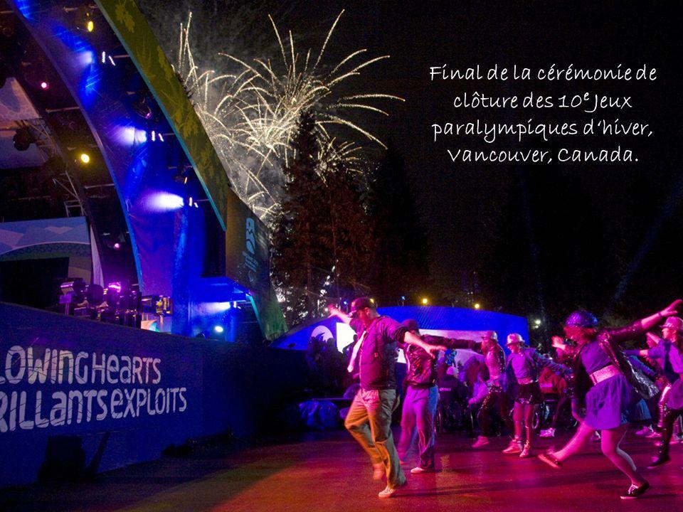Final de la cérémonie de clôture des 10e Jeux paralympiques d'hiver, Vancouver, Canada.