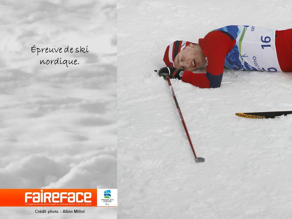 Épreuve de ski nordique.
