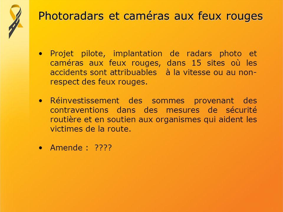 Photoradars et caméras aux feux rouges