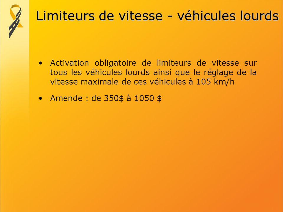 Limiteurs de vitesse - véhicules lourds