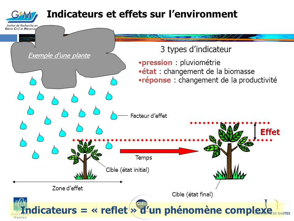 Indicateurs et effets sur l'environment