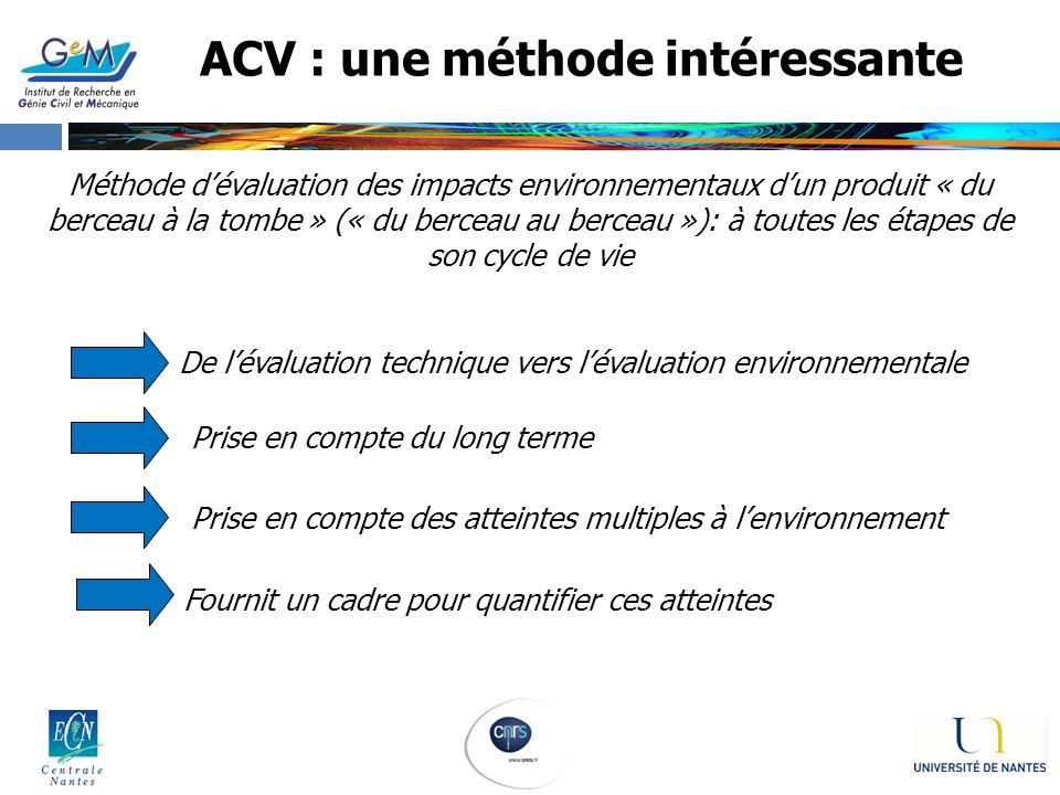 ACV : une méthode intéressante