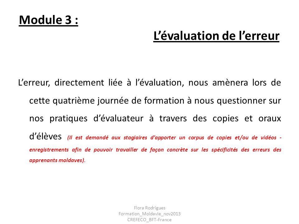 Module 3 : L'évaluation de l'erreur