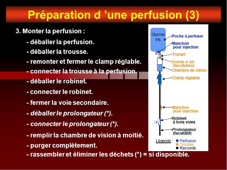 Préparation d 'une perfusion (3)