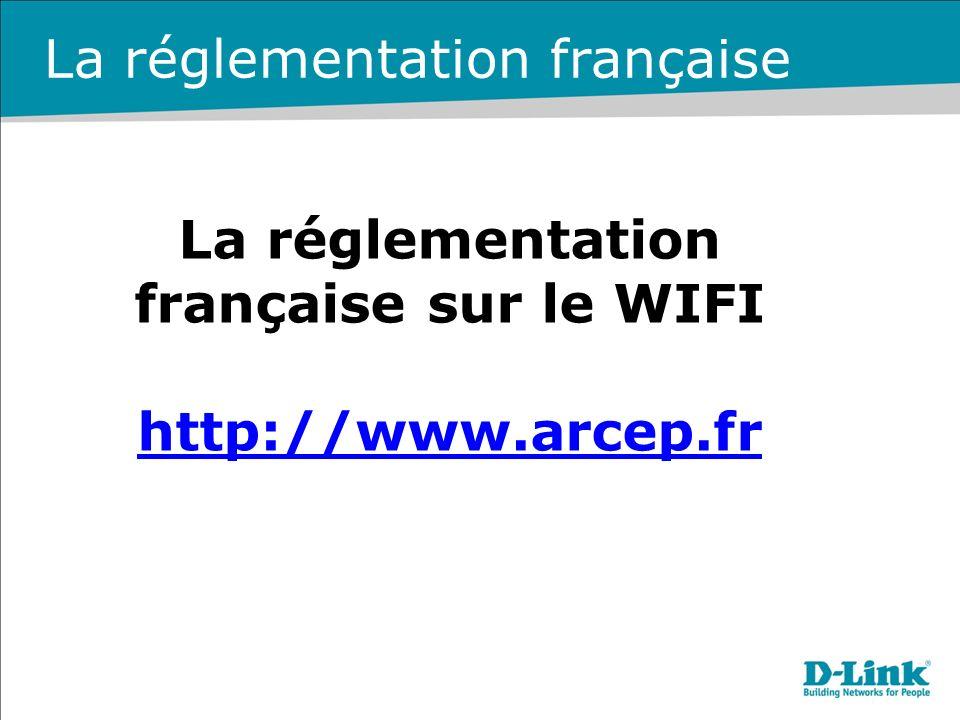 La réglementation française sur le WIFI http://www.arcep.fr