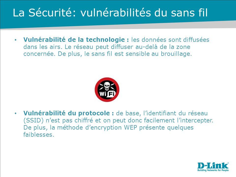 La Sécurité: vulnérabilités du sans fil