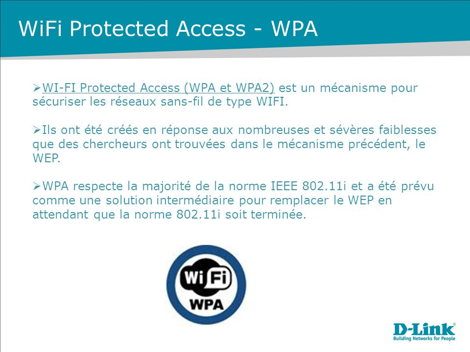 WiFi Protected Access - WPA