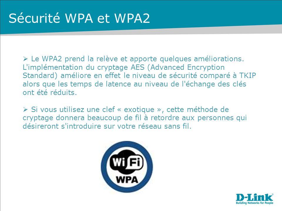Sécurité WPA et WPA2