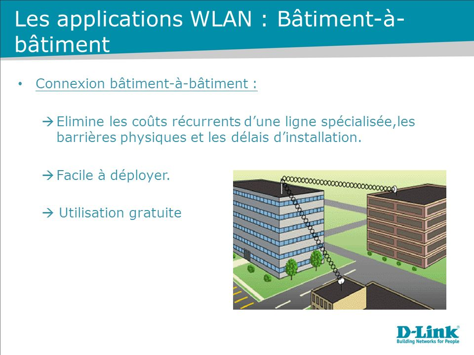 Les applications WLAN : Bâtiment-à-bâtiment