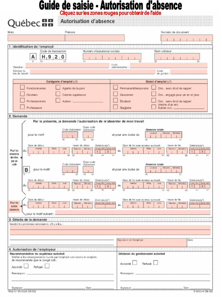 Guide de saisie - Autorisation d absence