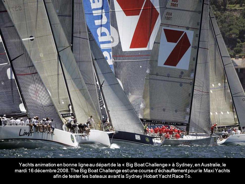 Yachts animation en bonne ligne au départ de la « Big Boat Challenge » à Sydney, en Australie, le mardi 16 décembre 2008.