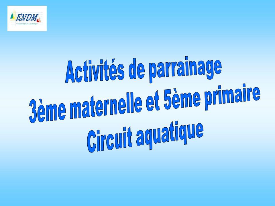 Activités de parrainage 3ème maternelle et 5ème primaire