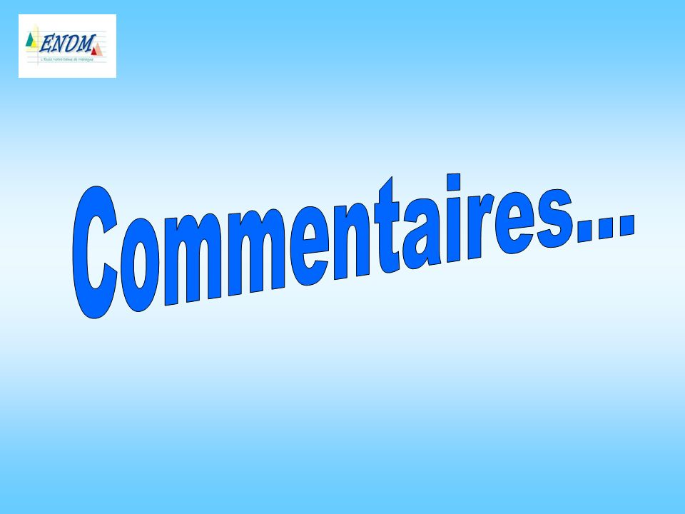 Commentaires...
