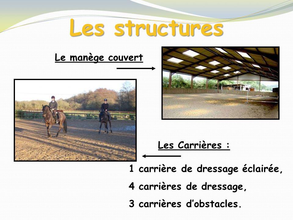 Les structures Le manège couvert Les Carrières :