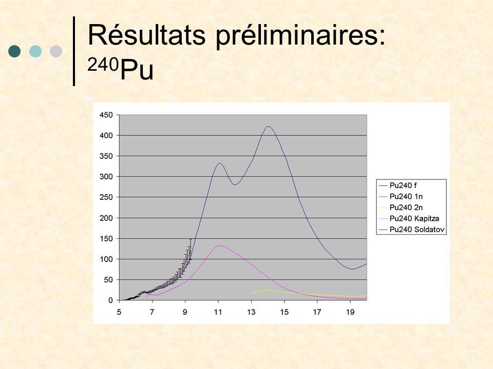 Résultats préliminaires: 240Pu