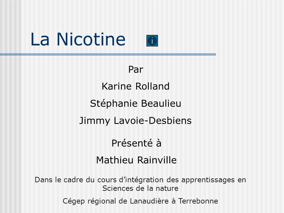La Nicotine Par Karine Rolland Stéphanie Beaulieu