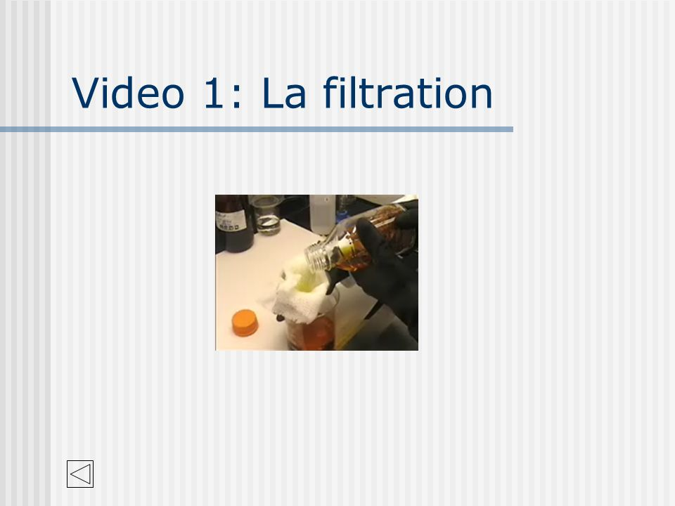Video 1: La filtration