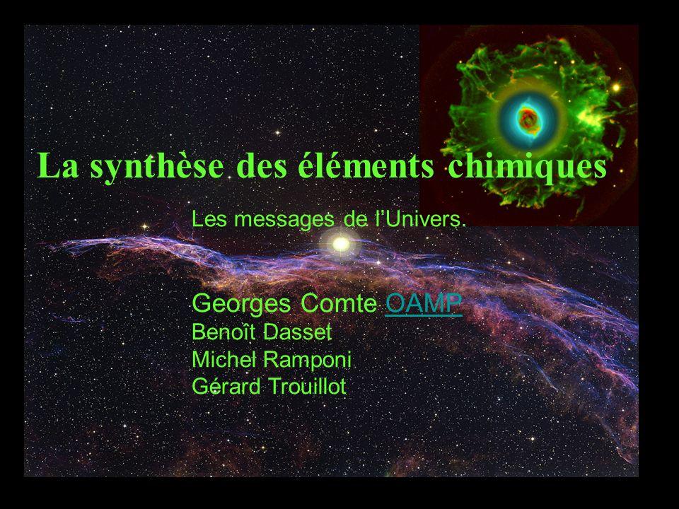 La synthèse des éléments chimiques