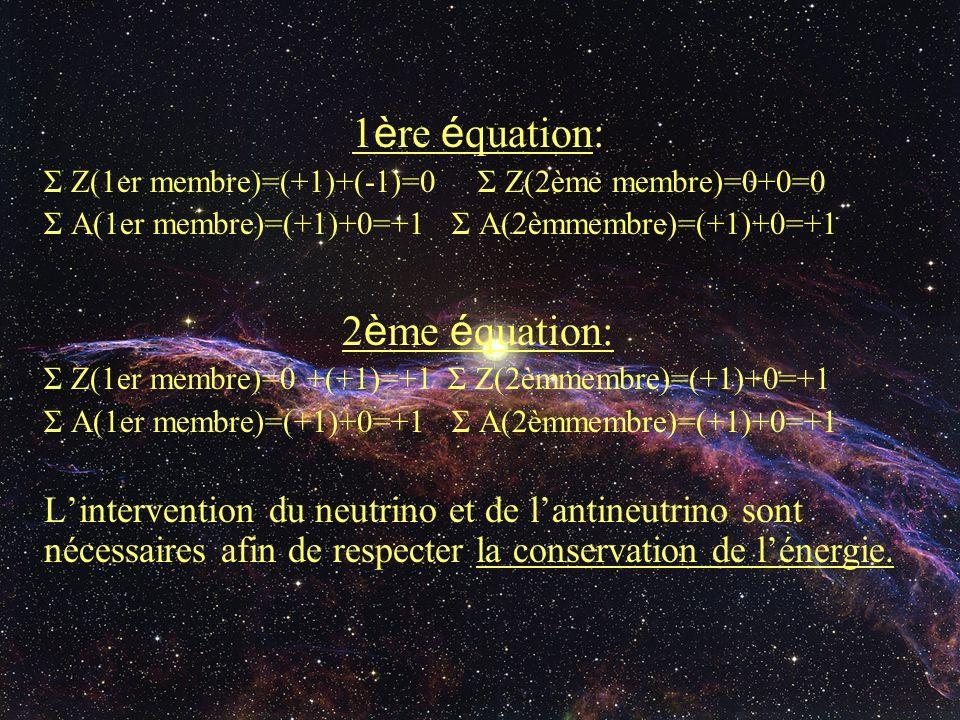1ère équation: 2ème équation: