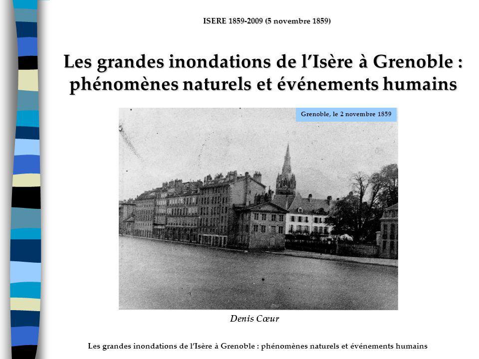 ActhYs (P4) Les grandes inondations de l'Isère à Grenoble : phénomènes naturels et événements humains.