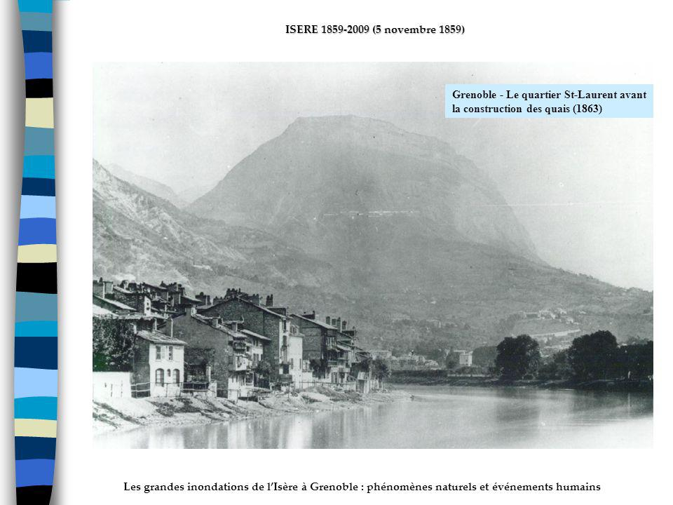ActhYs (P4) Grenoble - Le quartier St-Laurent avant la construction des quais (1863)