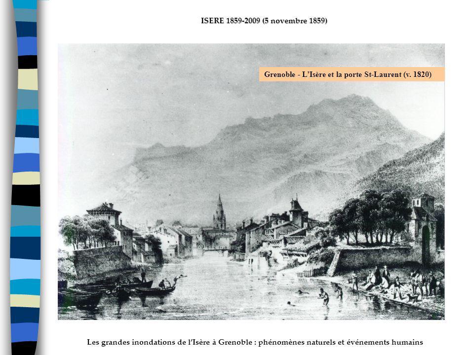 ActhYs (P4) Grenoble - L'Isère et la porte St-Laurent (v. 1820)