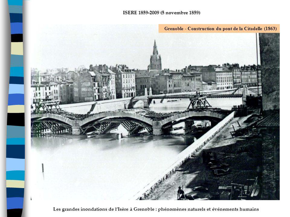 ActhYs (P4) Grenoble - Construction du pont de la Citadelle (1863)