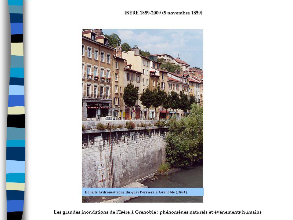 ActhYs (P4) Echelle hydrométrique du quai Perrière à Grenoble (1864)