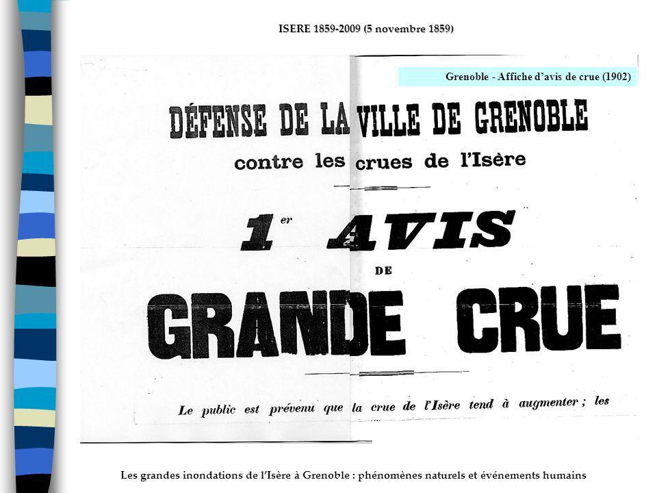 ActhYs (P4) Grenoble - Affiche d'avis de crue (1902)