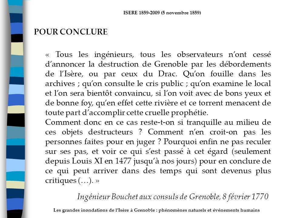 Ingénieur Bouchet aux consuls de Grenoble, 8 février 1770
