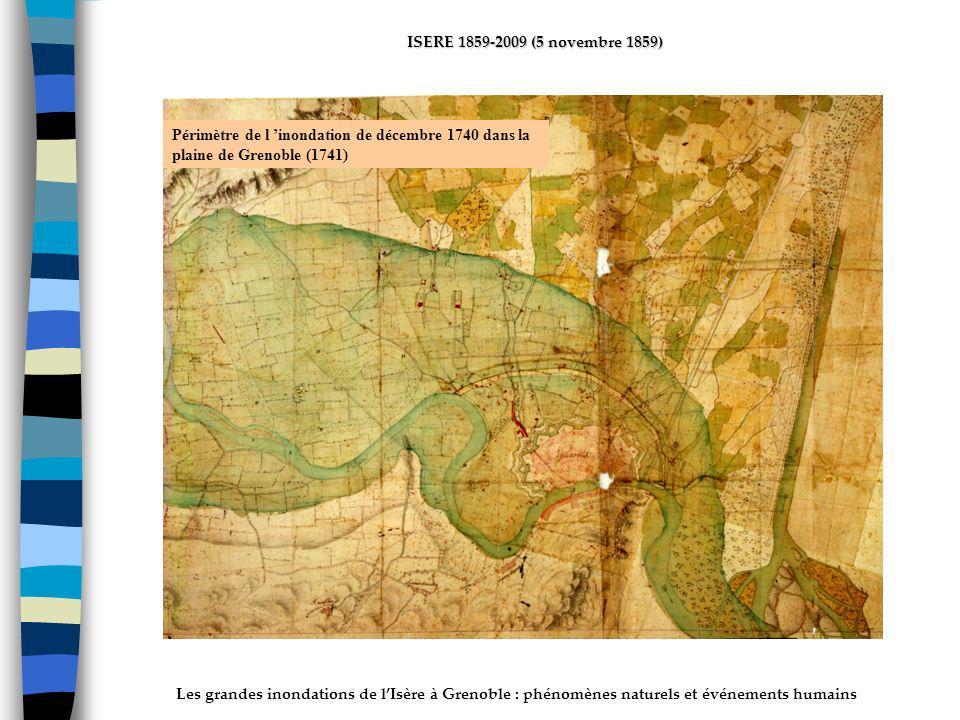 ActhYs (P4) Périmètre de l 'inondation de décembre 1740 dans la plaine de Grenoble (1741)