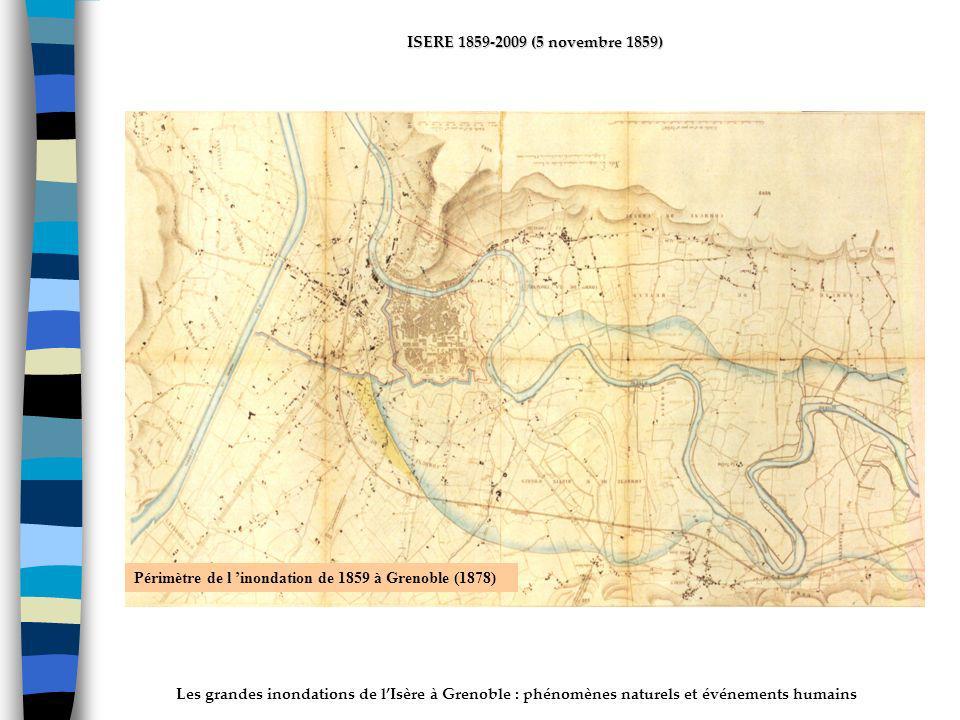 ActhYs (P4) Périmètre de l 'inondation de 1859 à Grenoble (1878)