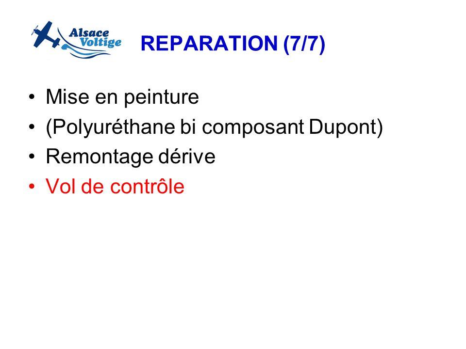REPARATION (7/7) Mise en peinture. (Polyuréthane bi composant Dupont) Remontage dérive.