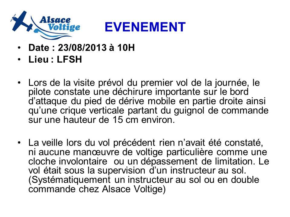 EVENEMENT Date : 23/08/2013 à 10H Lieu : LFSH