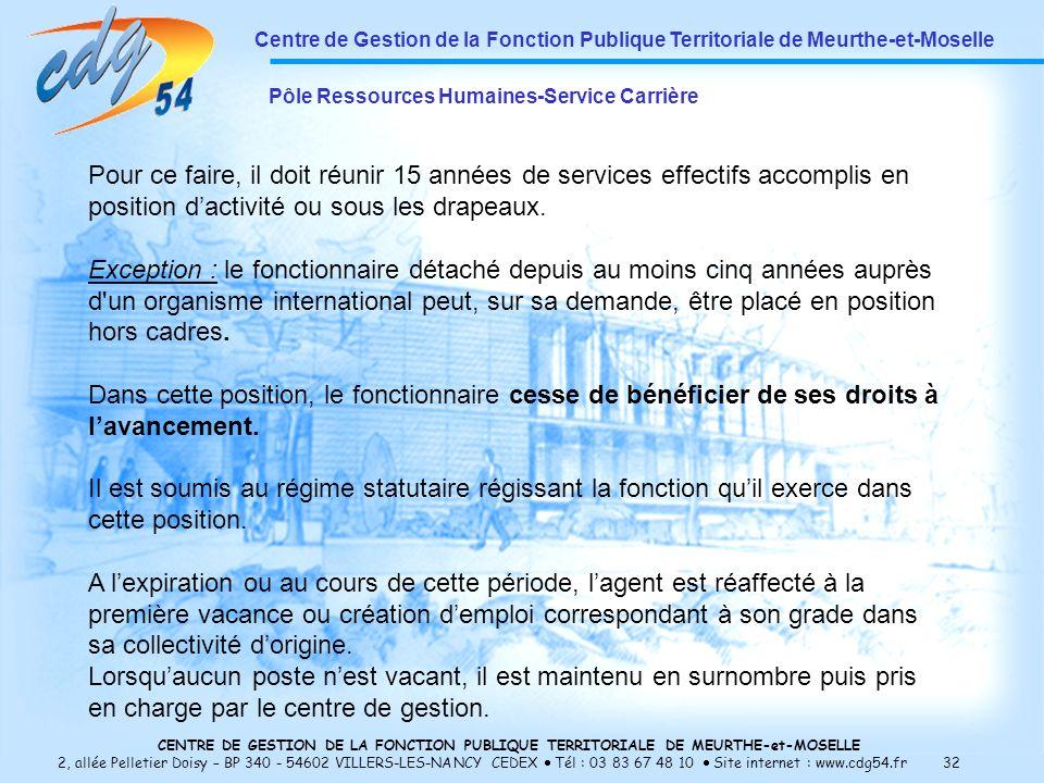 Centre de Gestion de la Fonction Publique Territoriale de Meurthe-et-Moselle