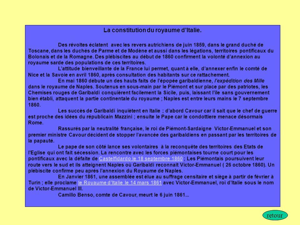 La constitution du royaume d'Italie.